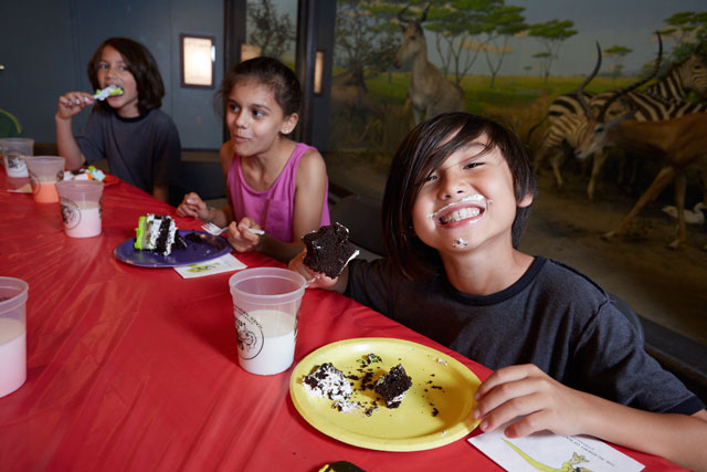 Eat cake and see dinosaurs by hosting your birthday at the Academy of Natural Sciences