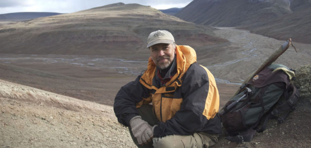 Ted Daeschler on an Arctic expedition