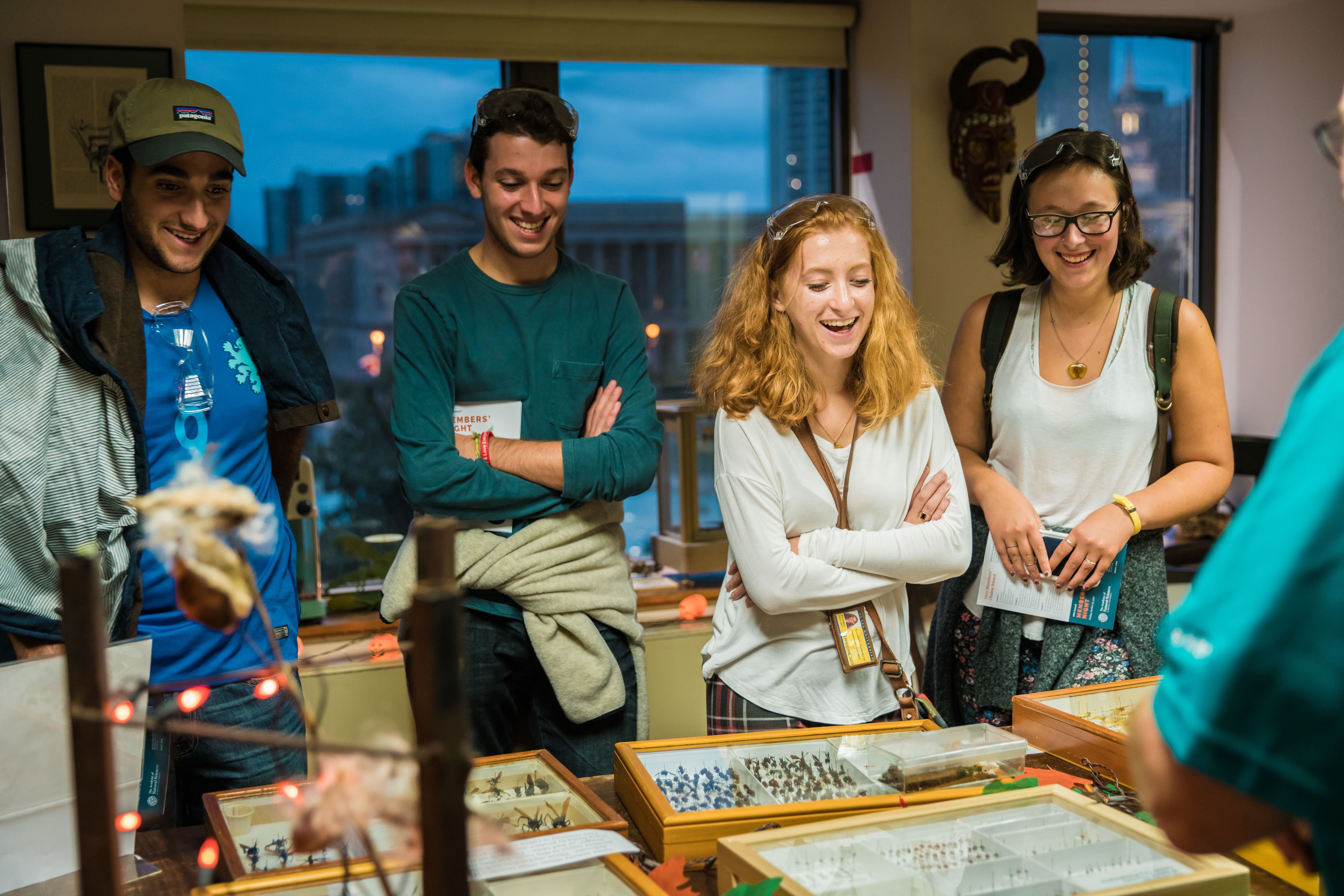 Members learn about insects in the collection