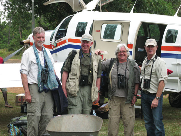 Gill and Conyne with expedition group