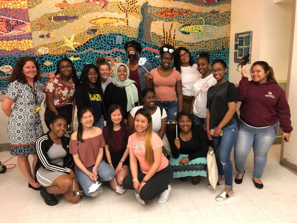 2018 graduating seniors of the WINS program at the Academy of Natural Sciences
