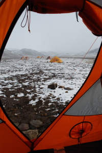 Camp in snow.3