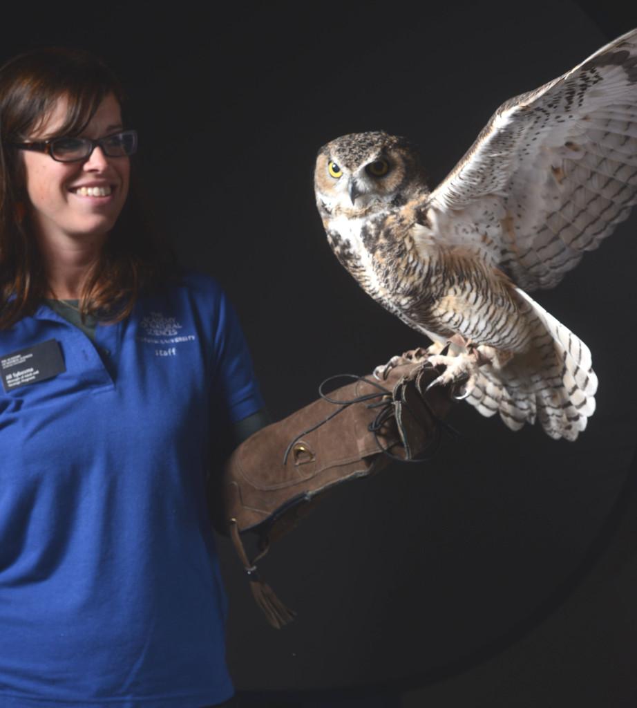 Jill Lim holding owl