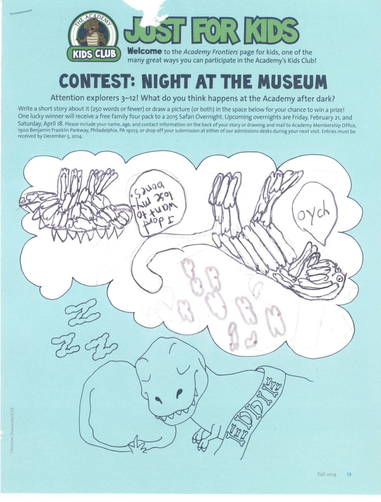 Night at the Museum Drawing