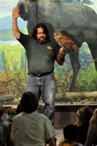 Jason Poole with Owl
