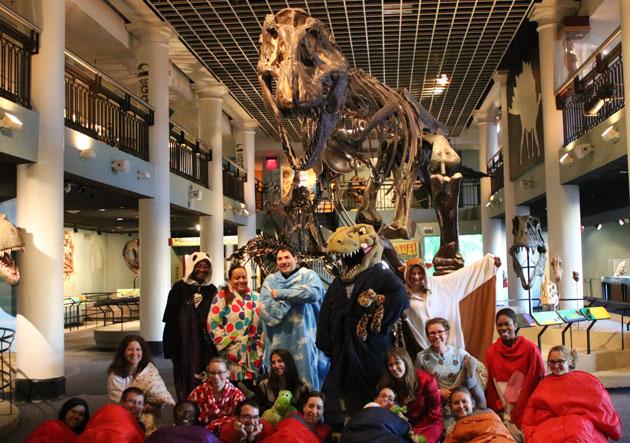 Group under T. rex
