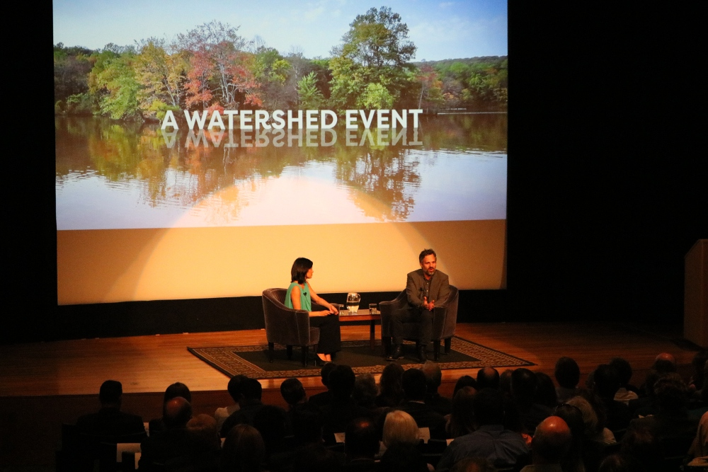 Ruffalo discusses his passion for water quality activist with the William Penn Foundation's Laura Sparks