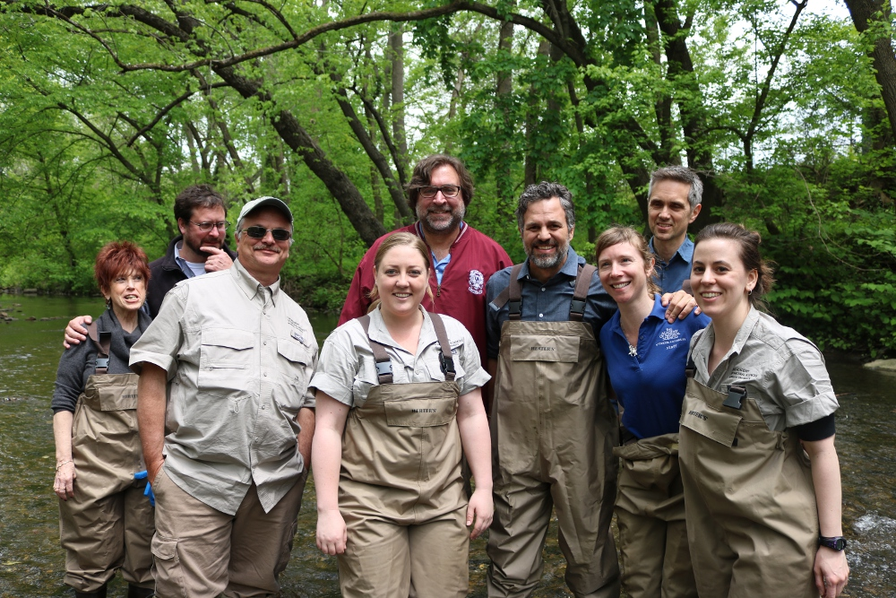 Members of our Delaware River Watershed Initiative pose with Ruffalo