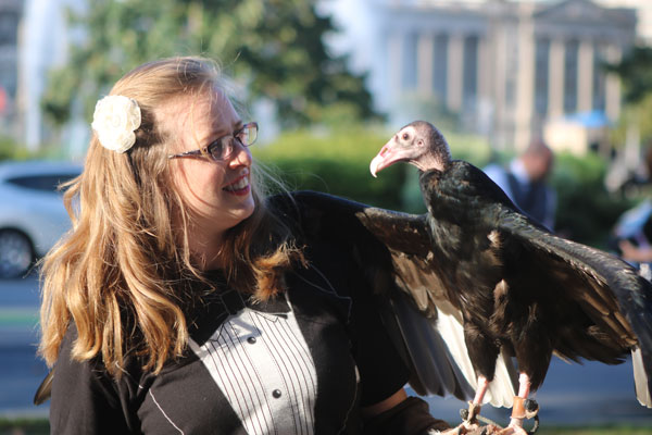 Educator with Turkey Vulture