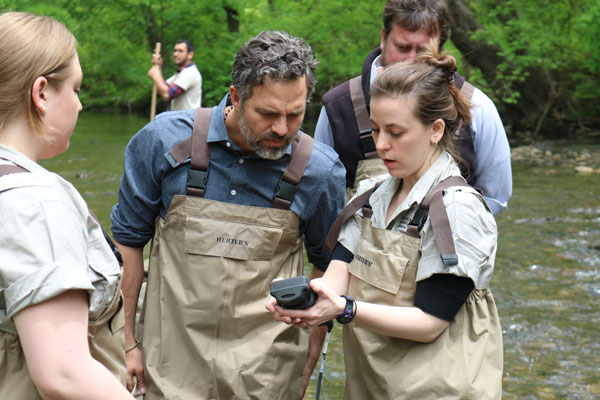 Mark Ruffalo Measures Water Quality