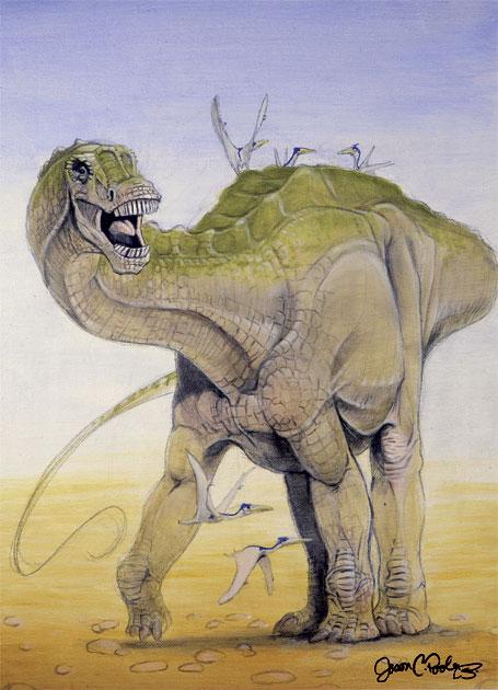 Dinosaur Illustration by Jason Poole