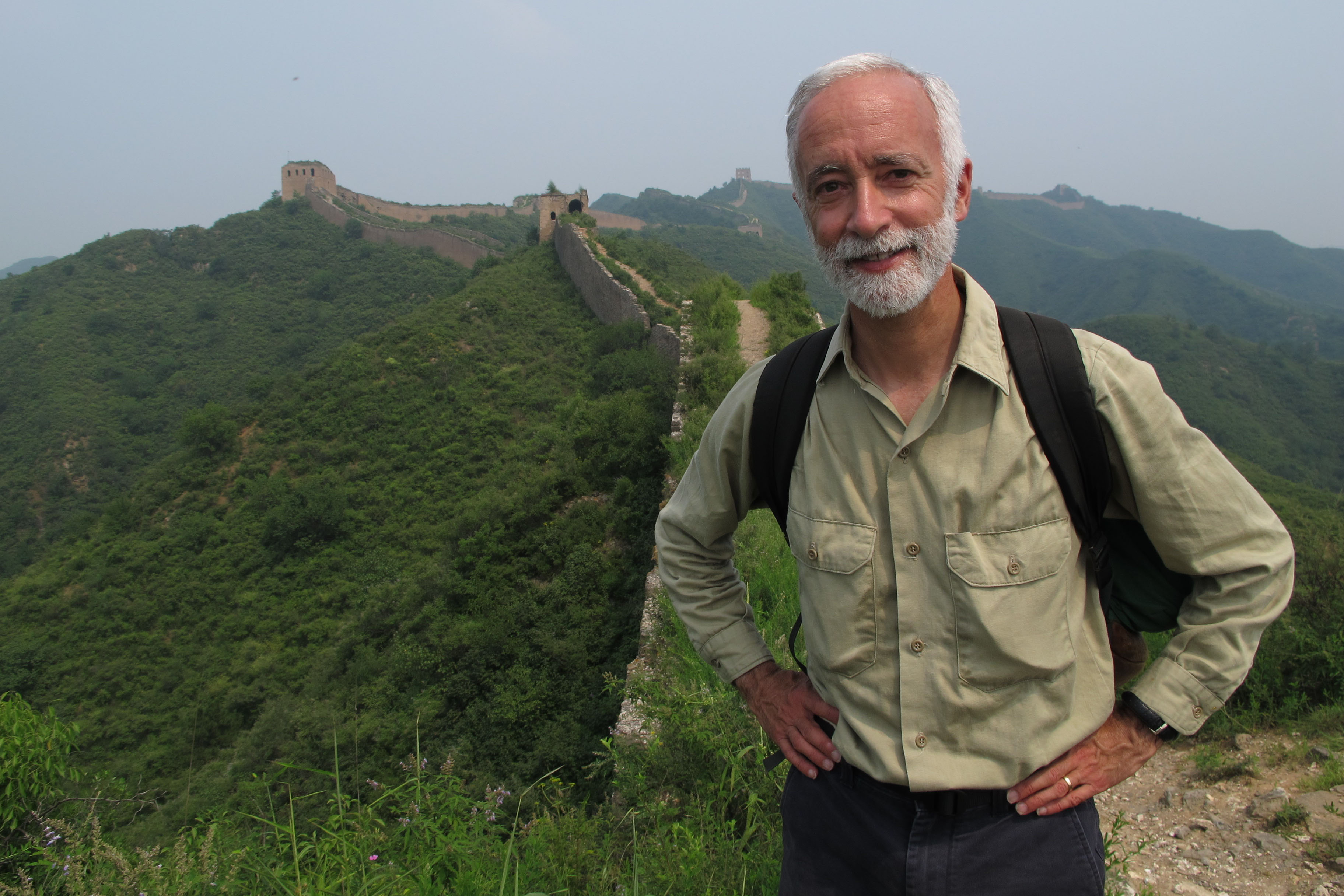 Adventurer Robert Peck recently at the Great Wall of China