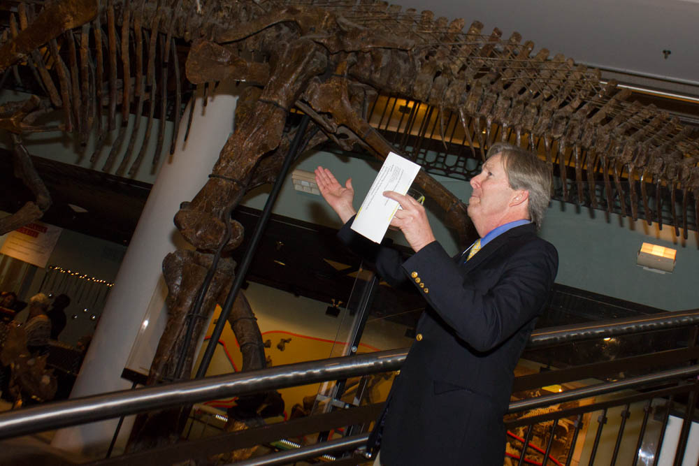 An avid outdoorsman passionate about dinosaurs and the Academy's long history of exploration and exhibition.