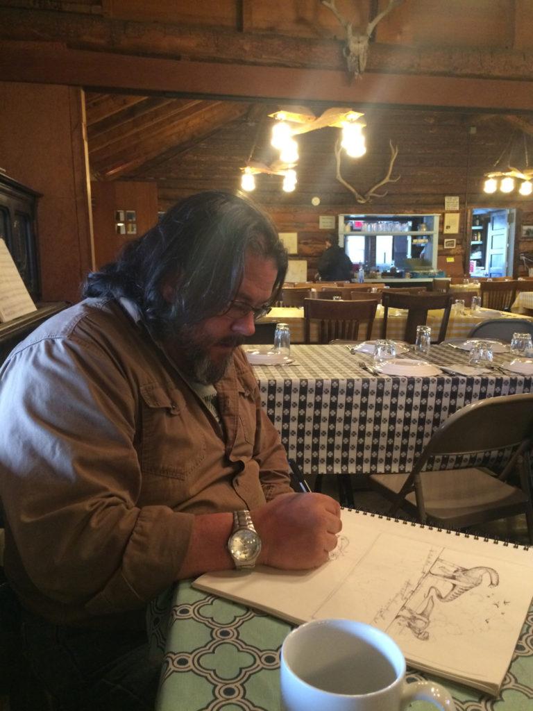 Jason Poole sketching