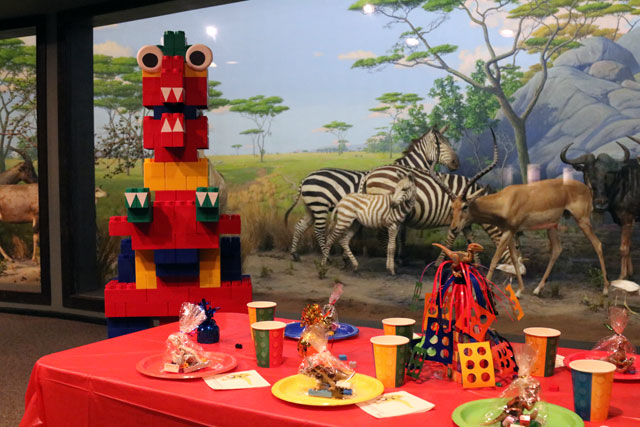 Host your dinosaur or brick birthday party at the Academy of Natural Sciences.