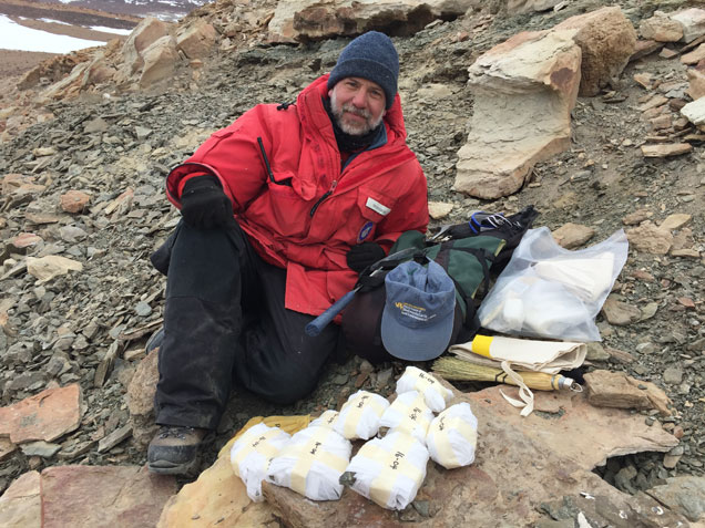 Academy paleontologist Ted Daeschler traveled to Antarctica to find Middle Devonian fossils for the Academy of Natural Sciences.