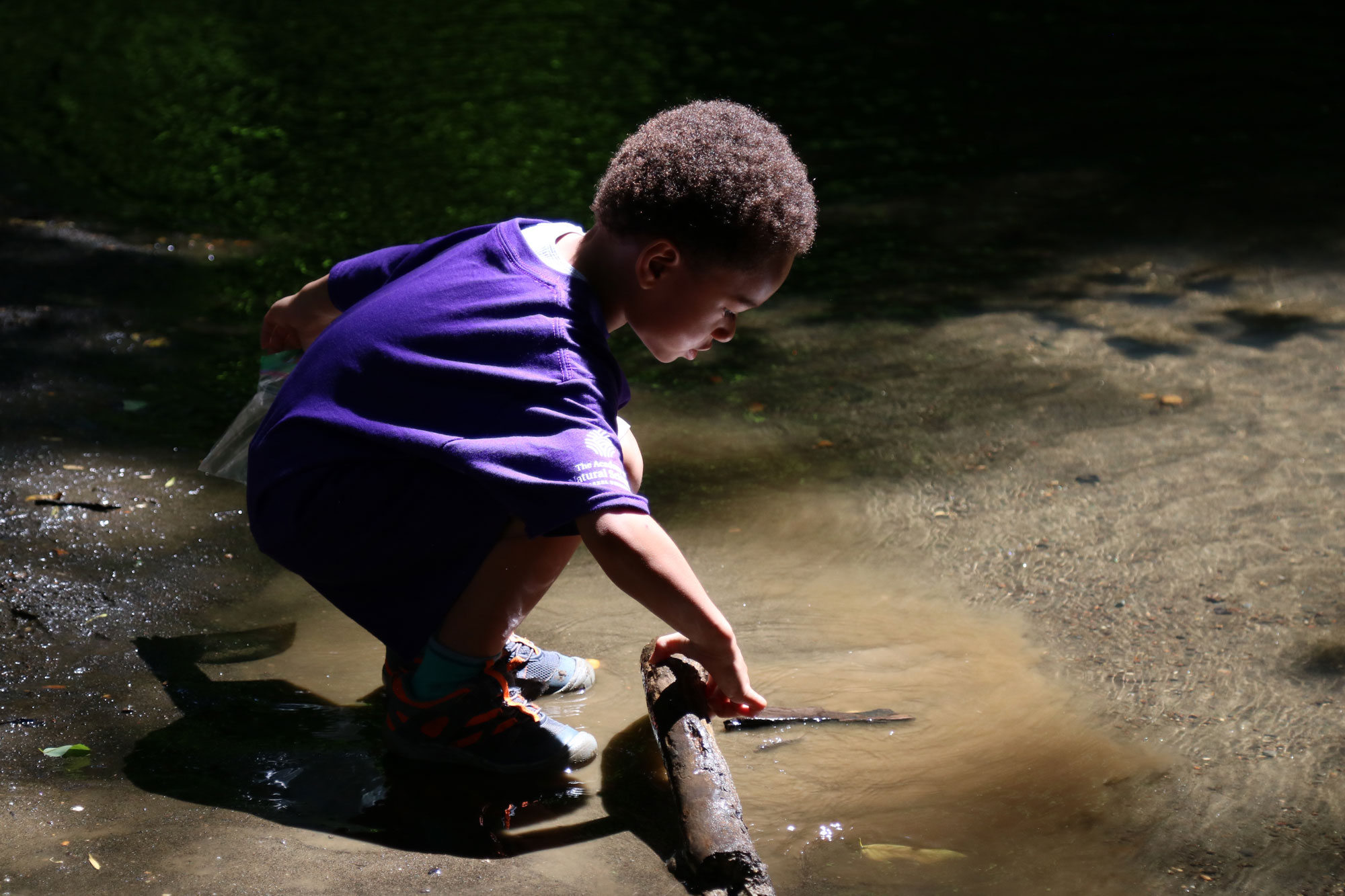 Academy Science Camper explores Big Brook Fossil Site