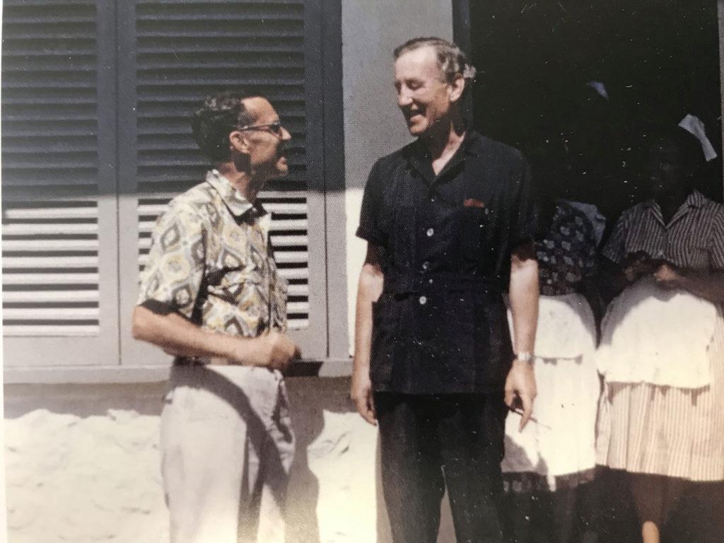 Ornithologist James Bond with author Ian Fleming