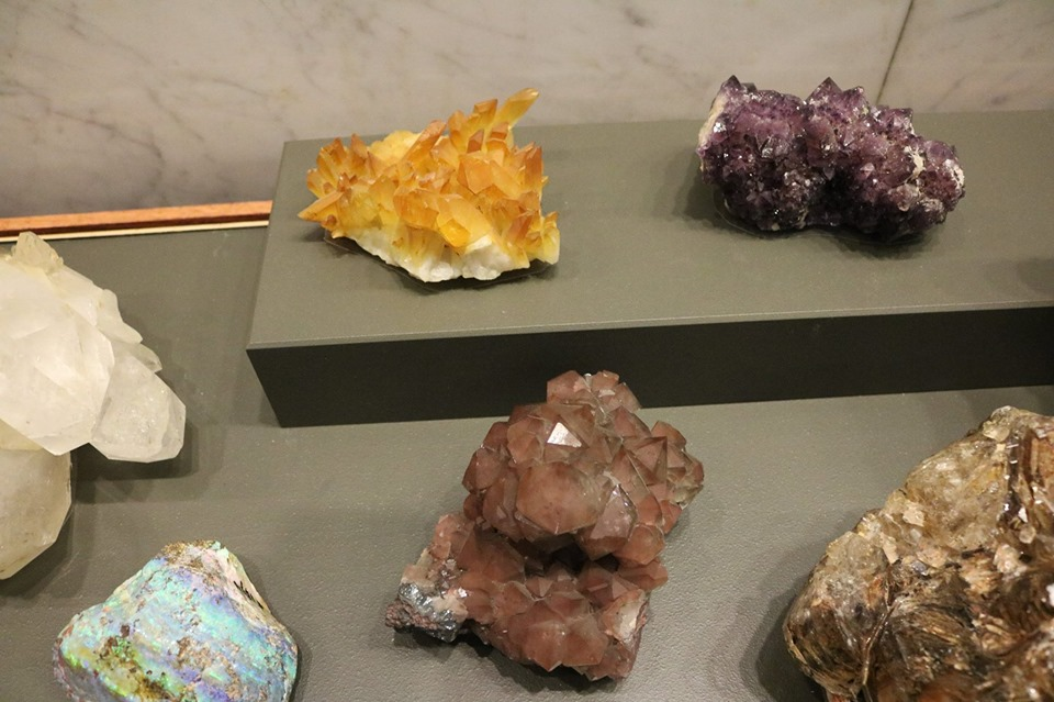 yellow, brown and purple minerals from ANS collection