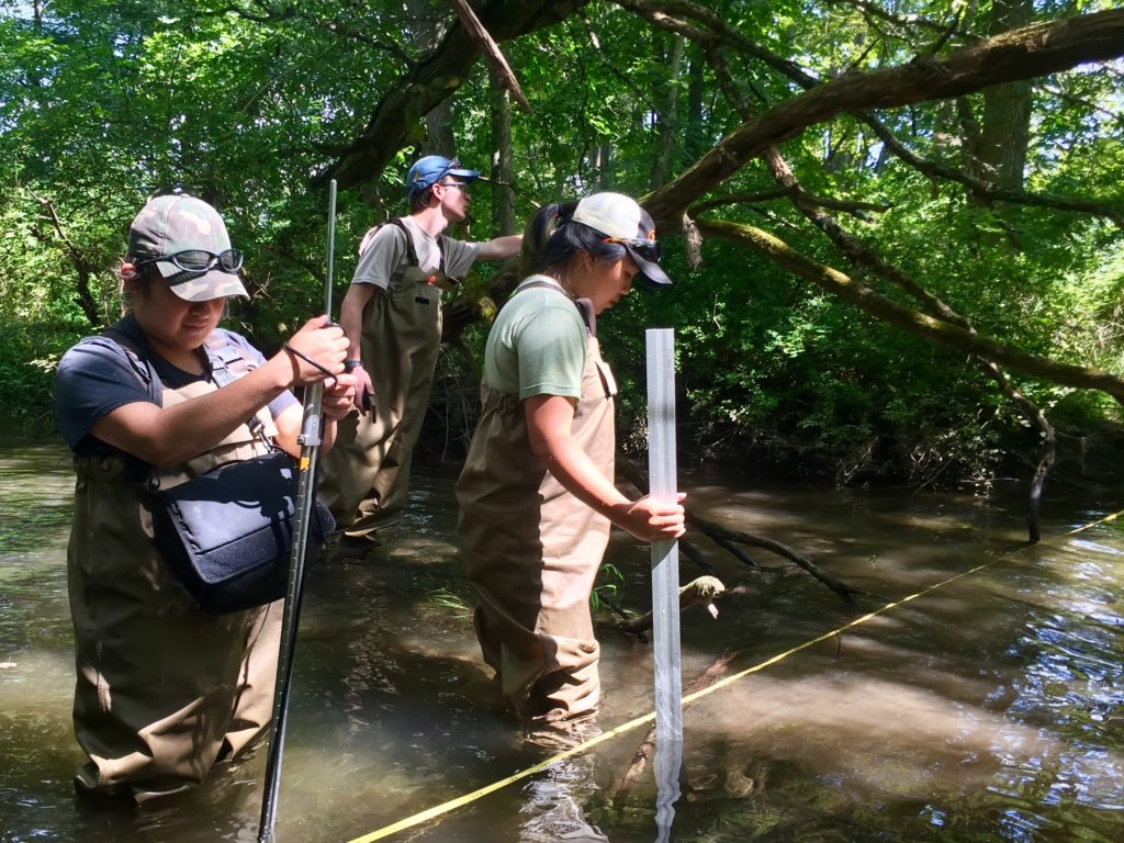 Habitat measurements at Cherry Creek