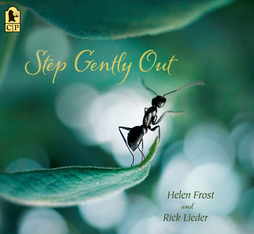 Step Gently Out book cover green with an ant at center