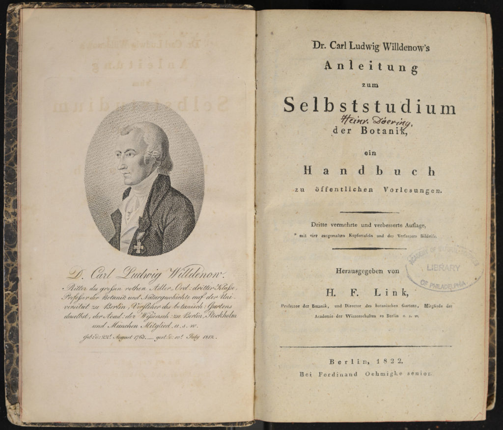 Title page from Willdenow's Guide to Self-Study of Botany