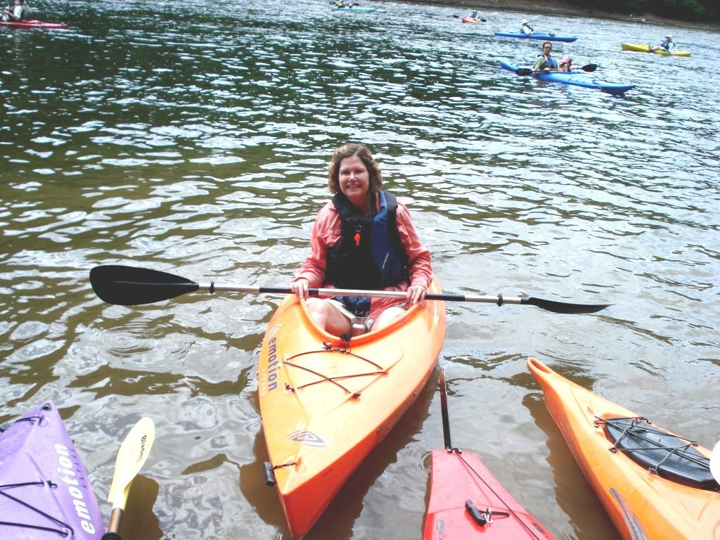 carol in kayak