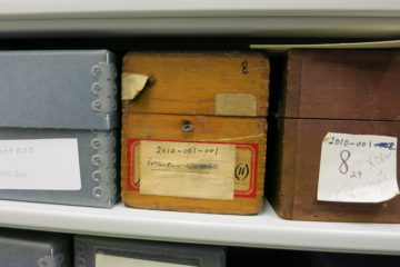 document boxes in archives