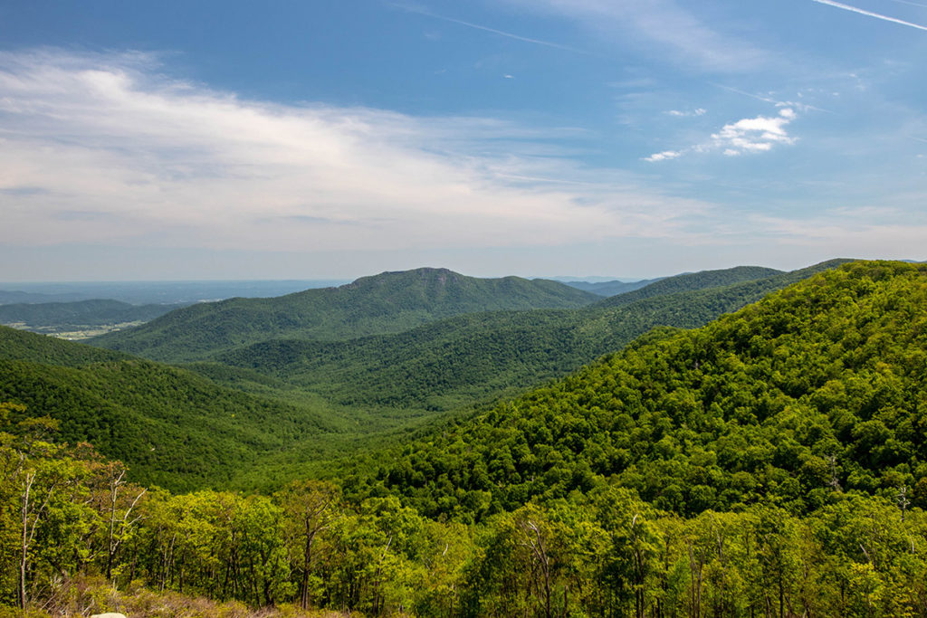 vista overlooking green mountains